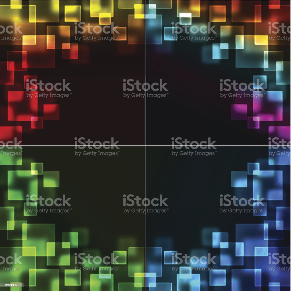 Four color abstract background royalty-free stock vector art