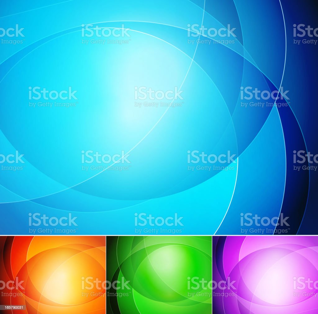 Four color  background royalty-free stock vector art