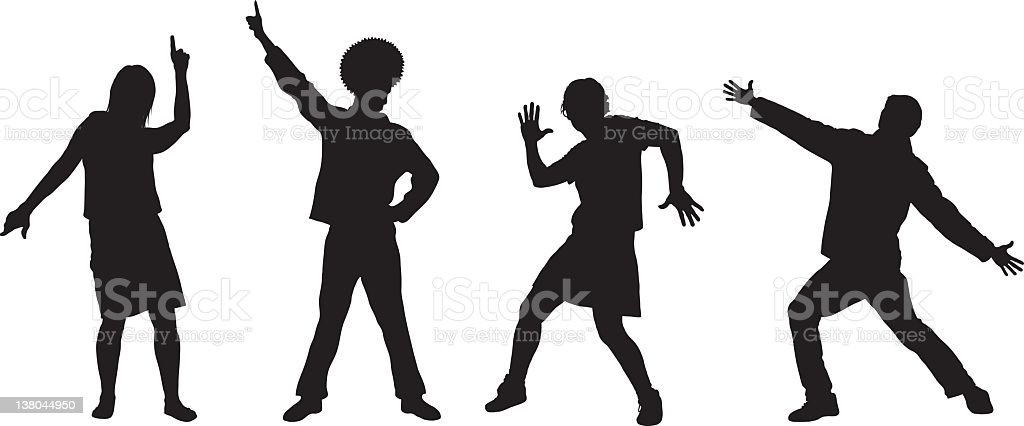 Four Dancers royalty-free stock vector art