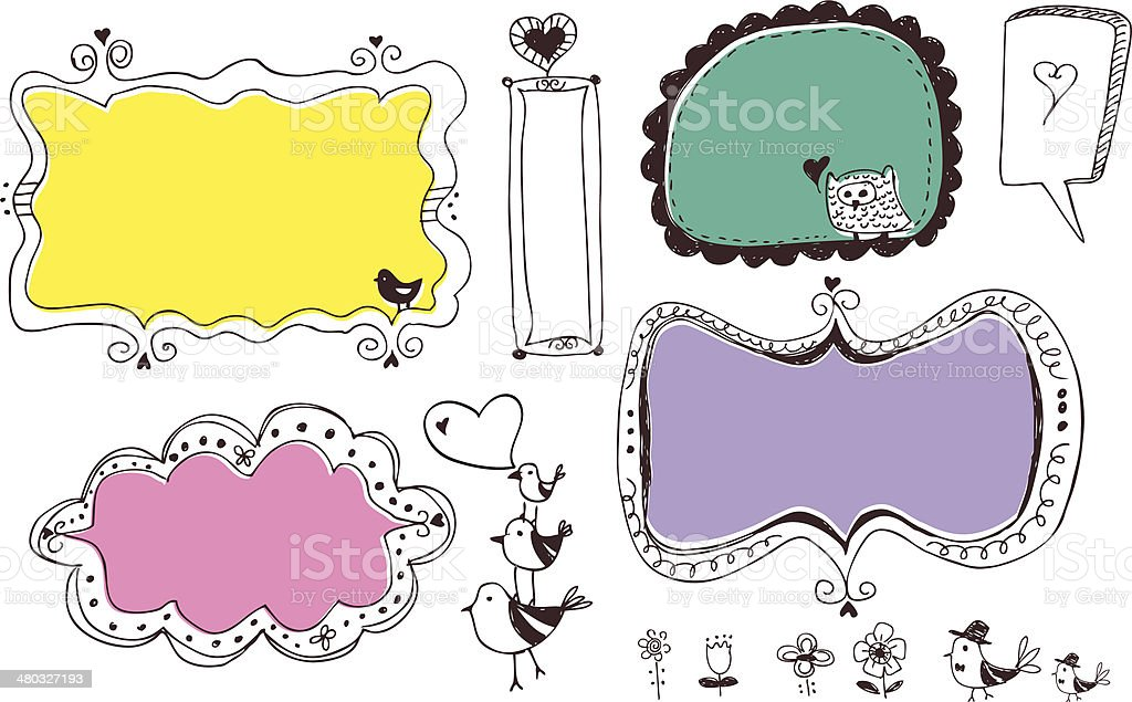 Four different Frames royalty-free stock vector art
