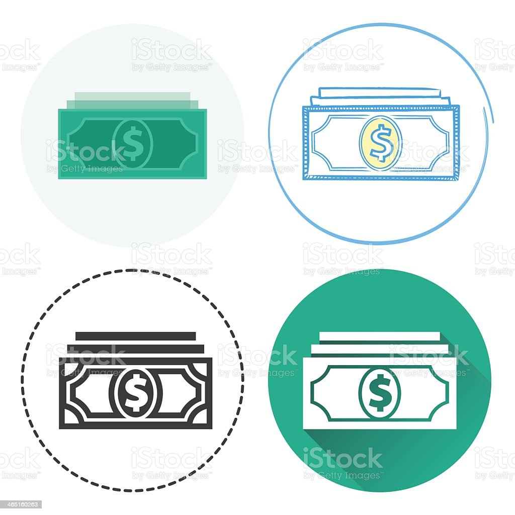 Dollar Bills vector art illustration