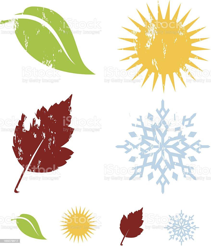 Four Elements vector art illustration
