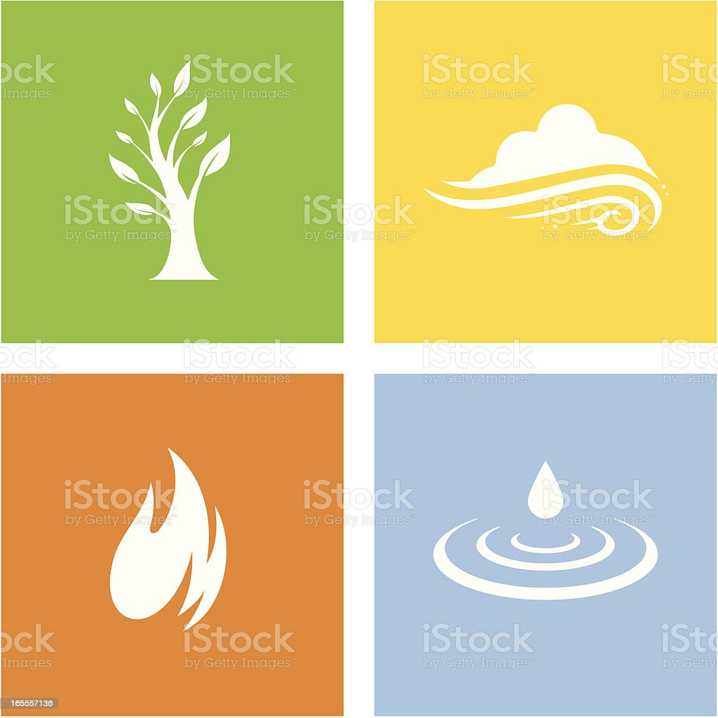 Four Elements vector art illustration