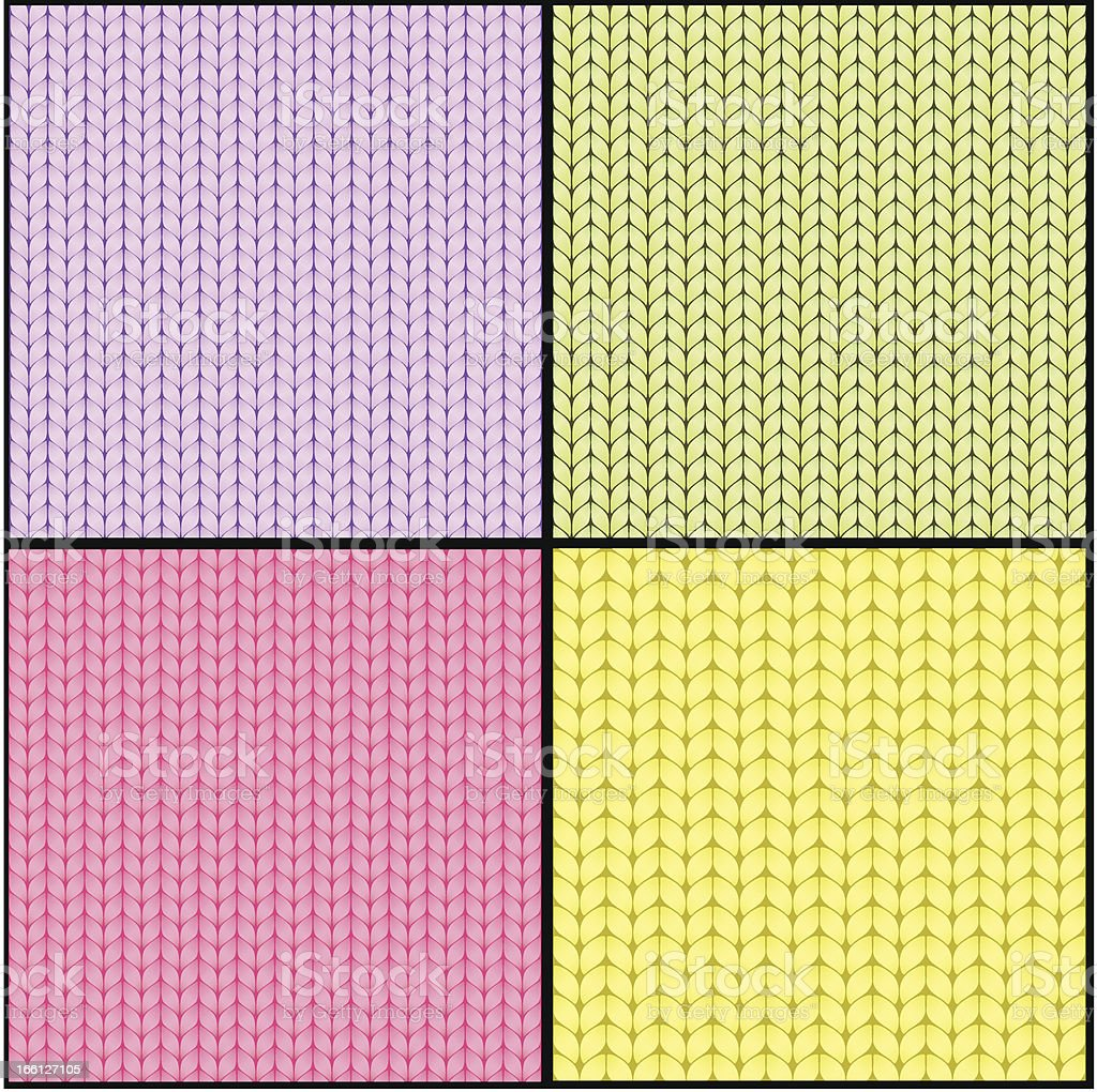 Four fabric seamless textures royalty-free stock vector art