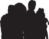 Four friends standing