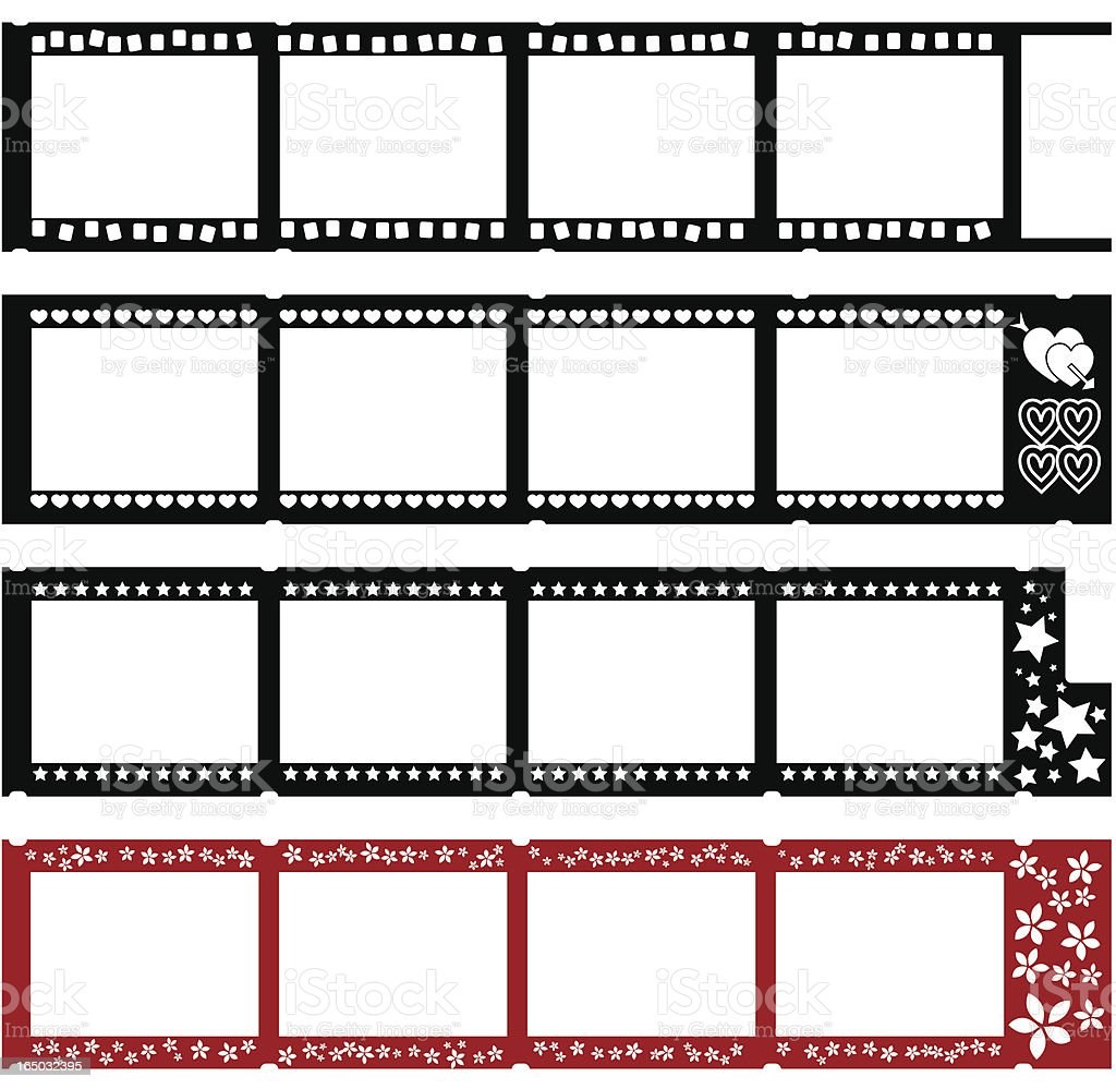 Four fun filmstrips  (VECTOR) royalty-free stock vector art