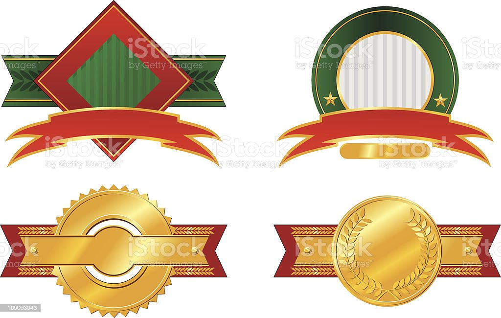 four labels royalty-free stock vector art