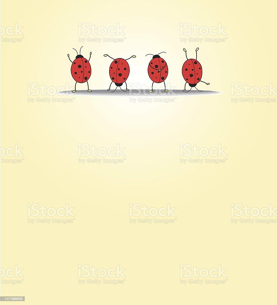 Four ladybugs royalty-free stock vector art