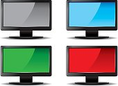 Four LCD monitors
