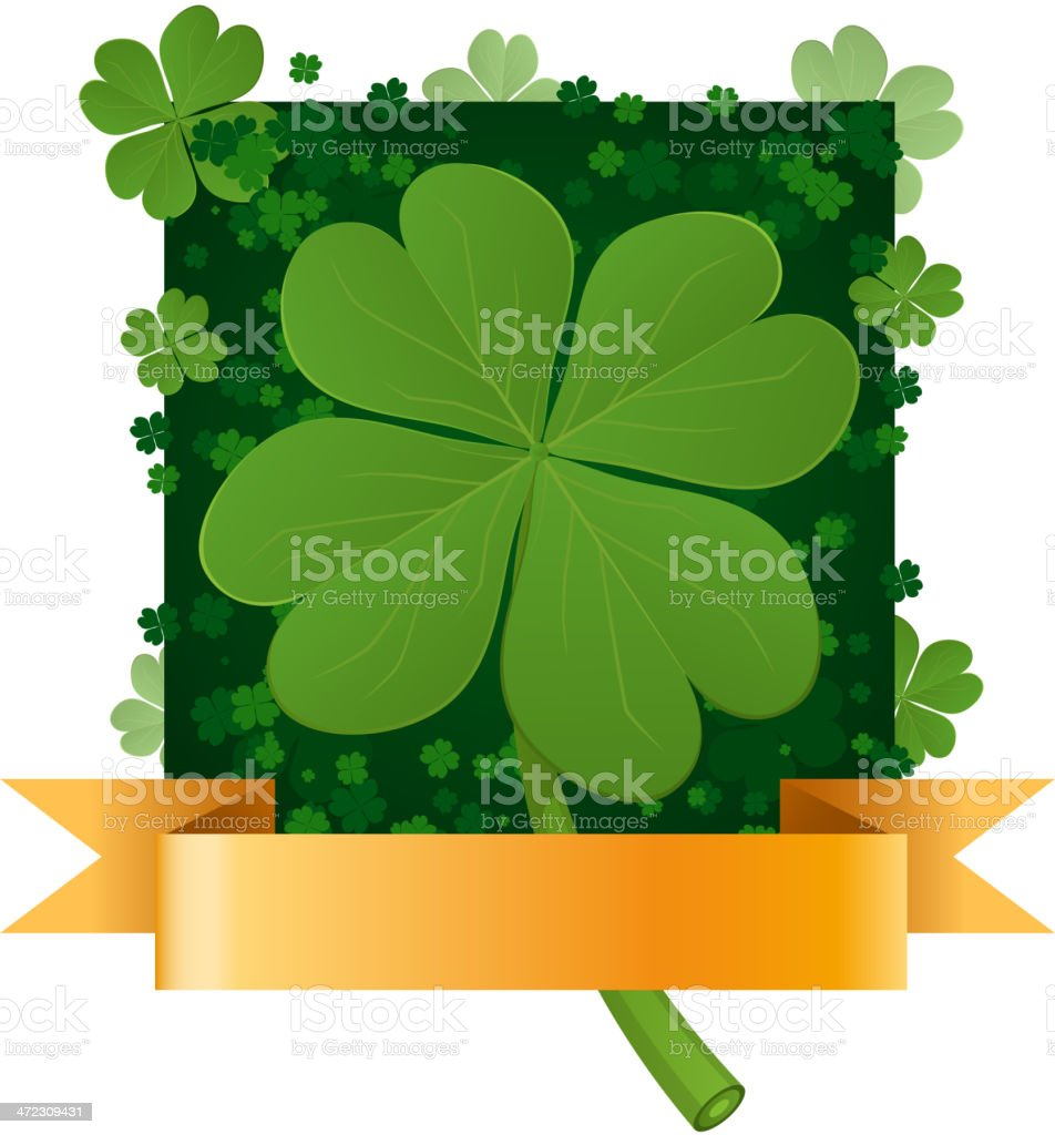 four leaf clover pattern with banner stock vector art 472309431