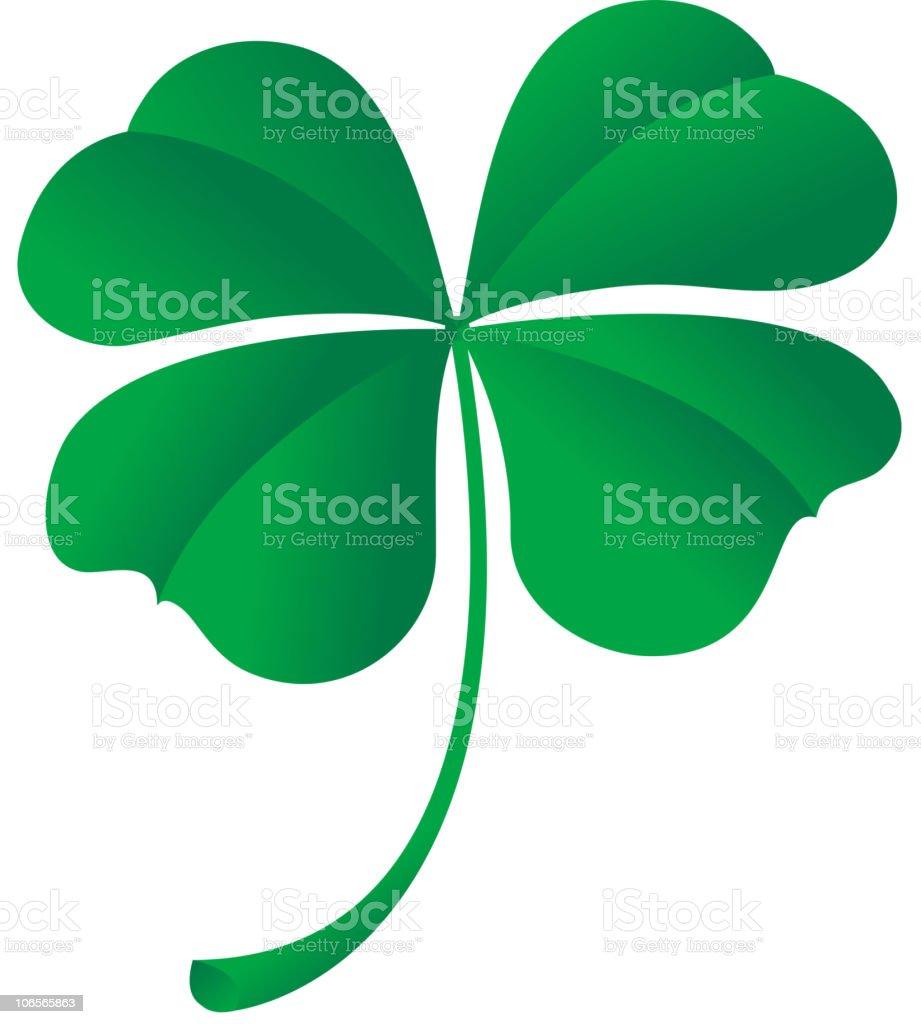 four leaf clover vector art illustration