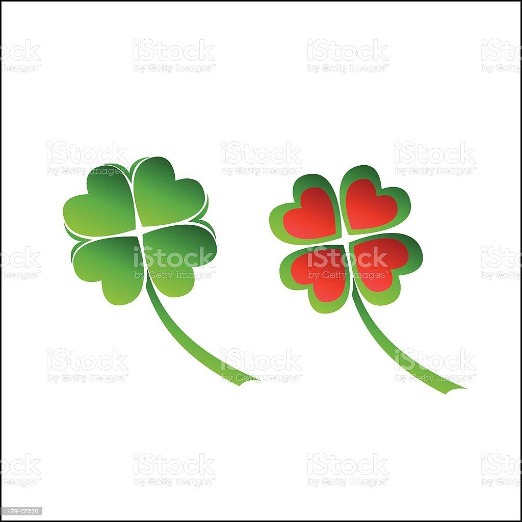 Four leaves clover royalty-free stock vector art