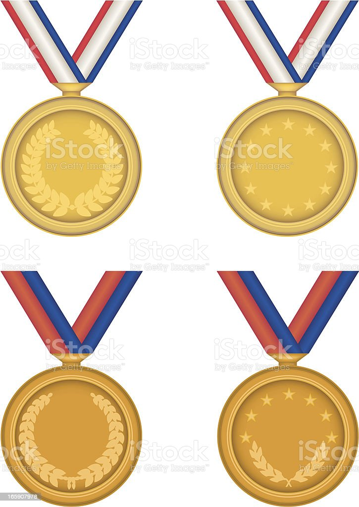 Four Medals royalty-free stock vector art