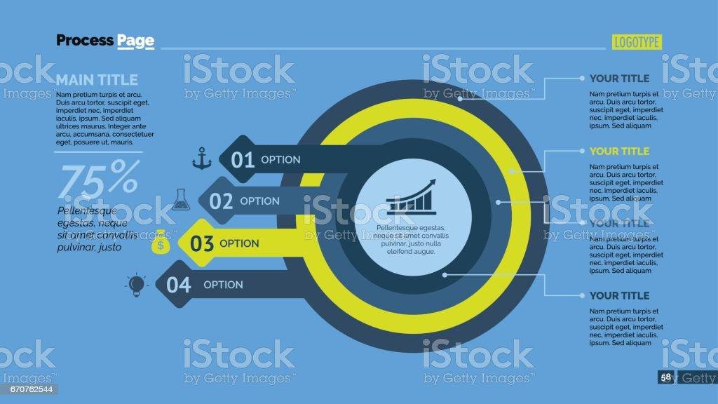 Four Options Plan Slide Template vector art illustration