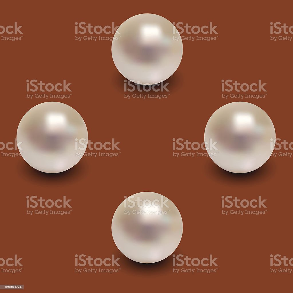 Four Pearls. royalty-free stock vector art