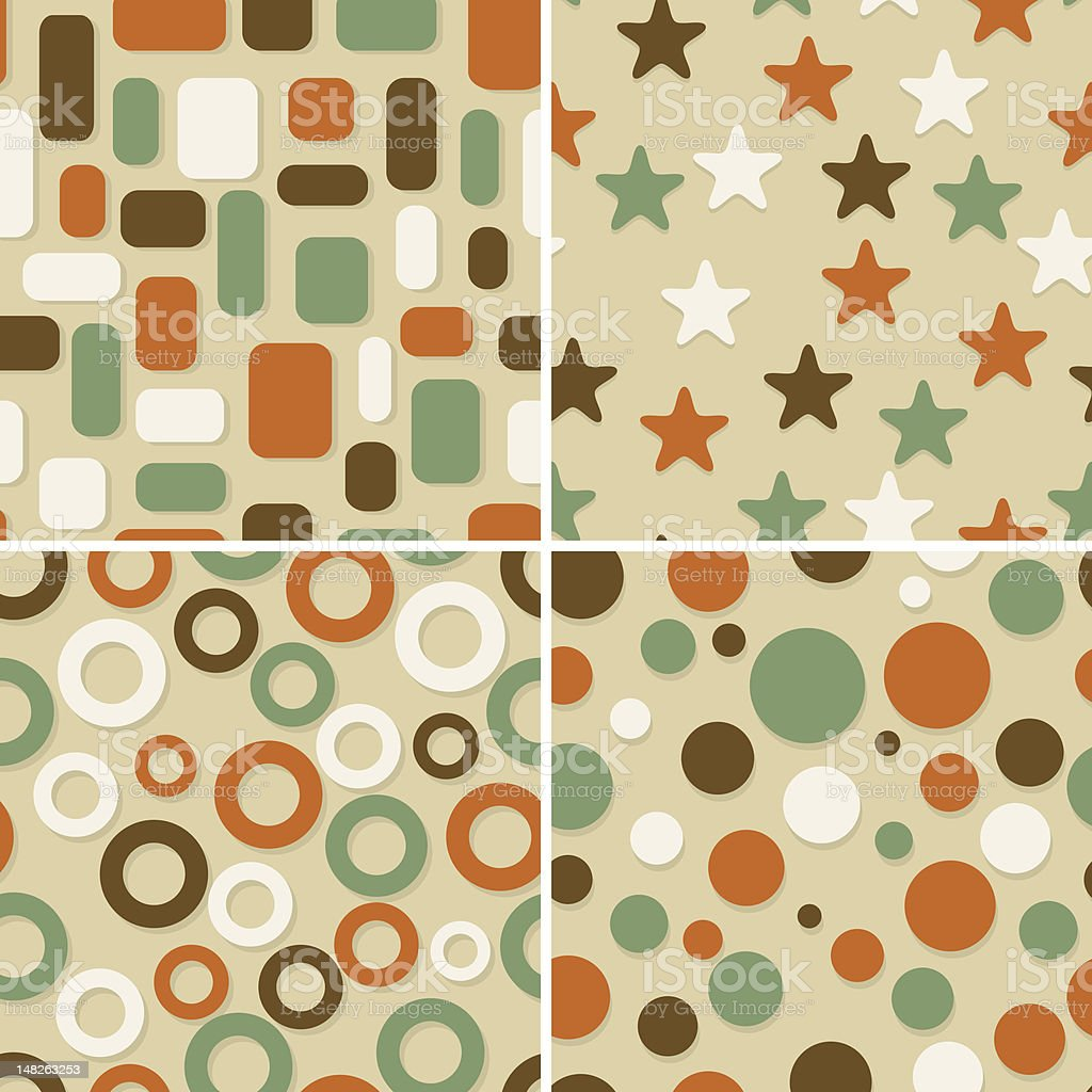 four  seamless christmas wrapping paper patterns royalty-free stock vector art