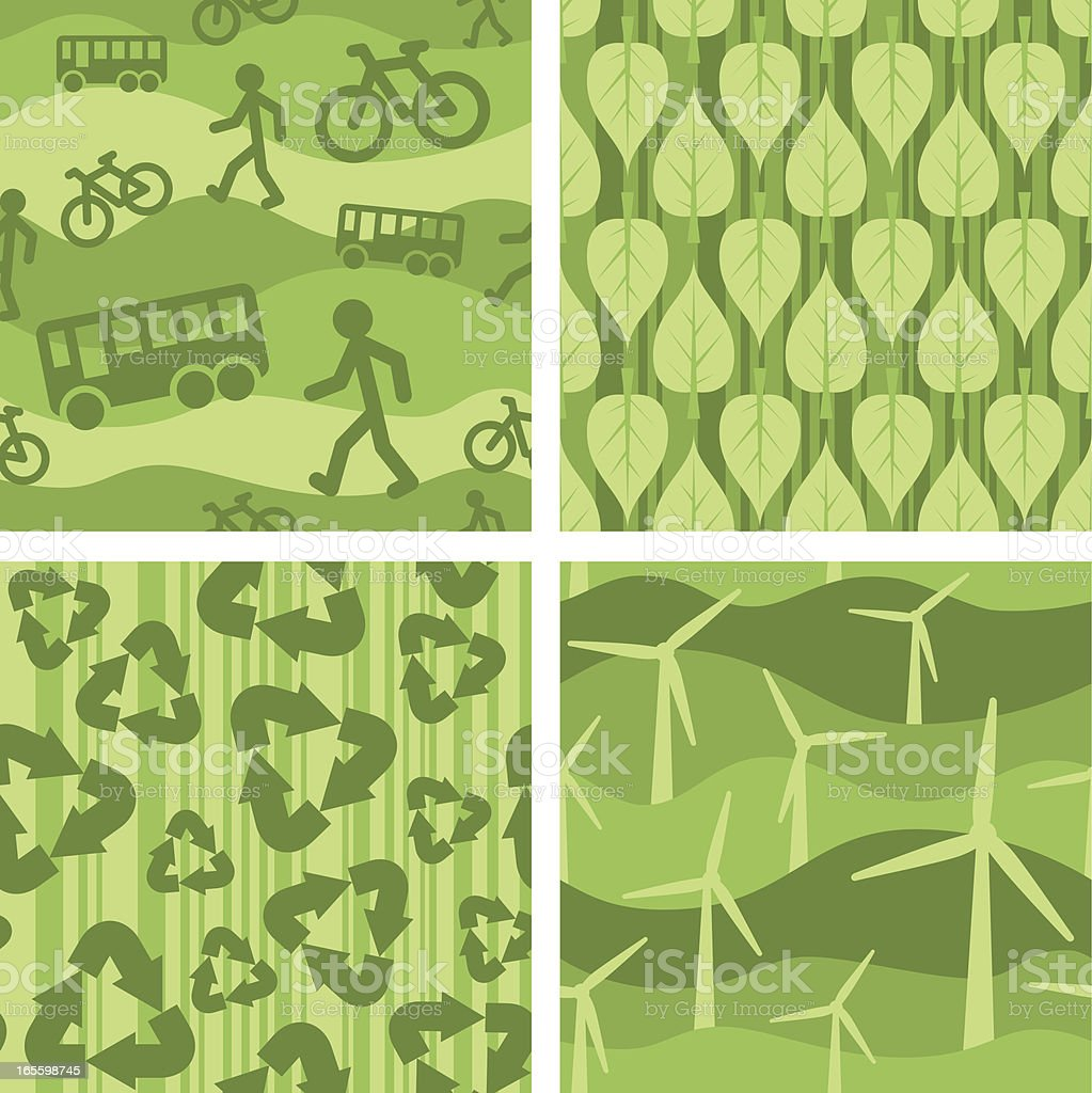 Four seamless enviro-patterns royalty-free stock vector art