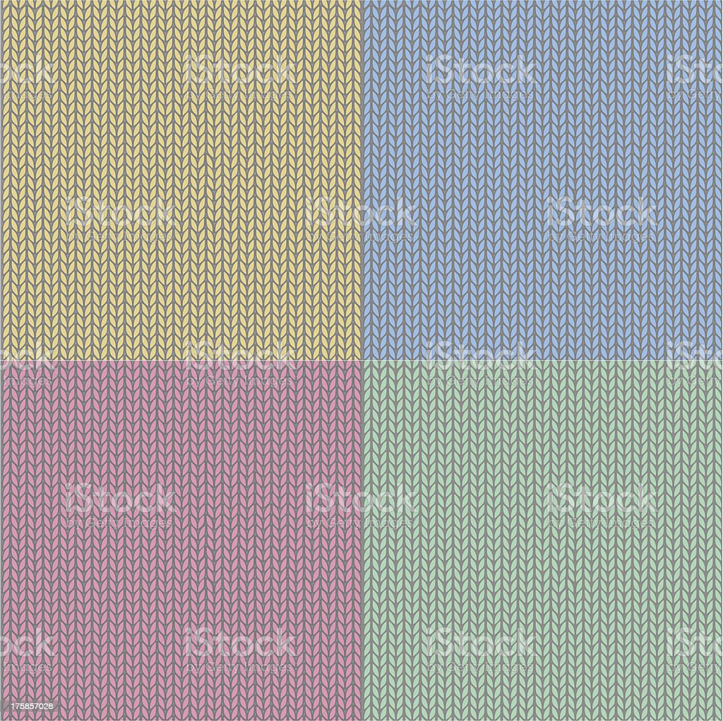 Four seamless knit patterns royalty-free stock vector art