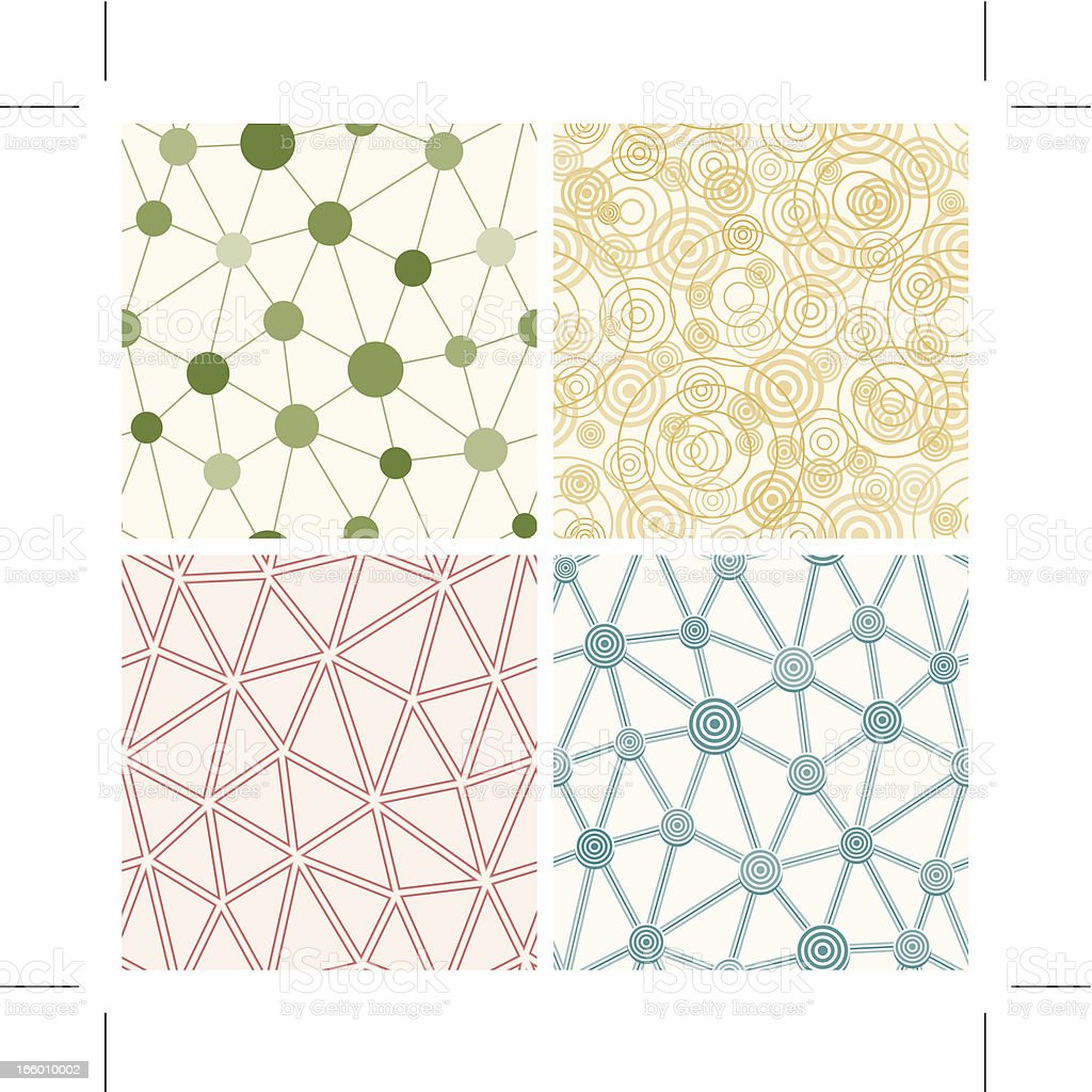 four seamless network patterns royalty-free stock vector art