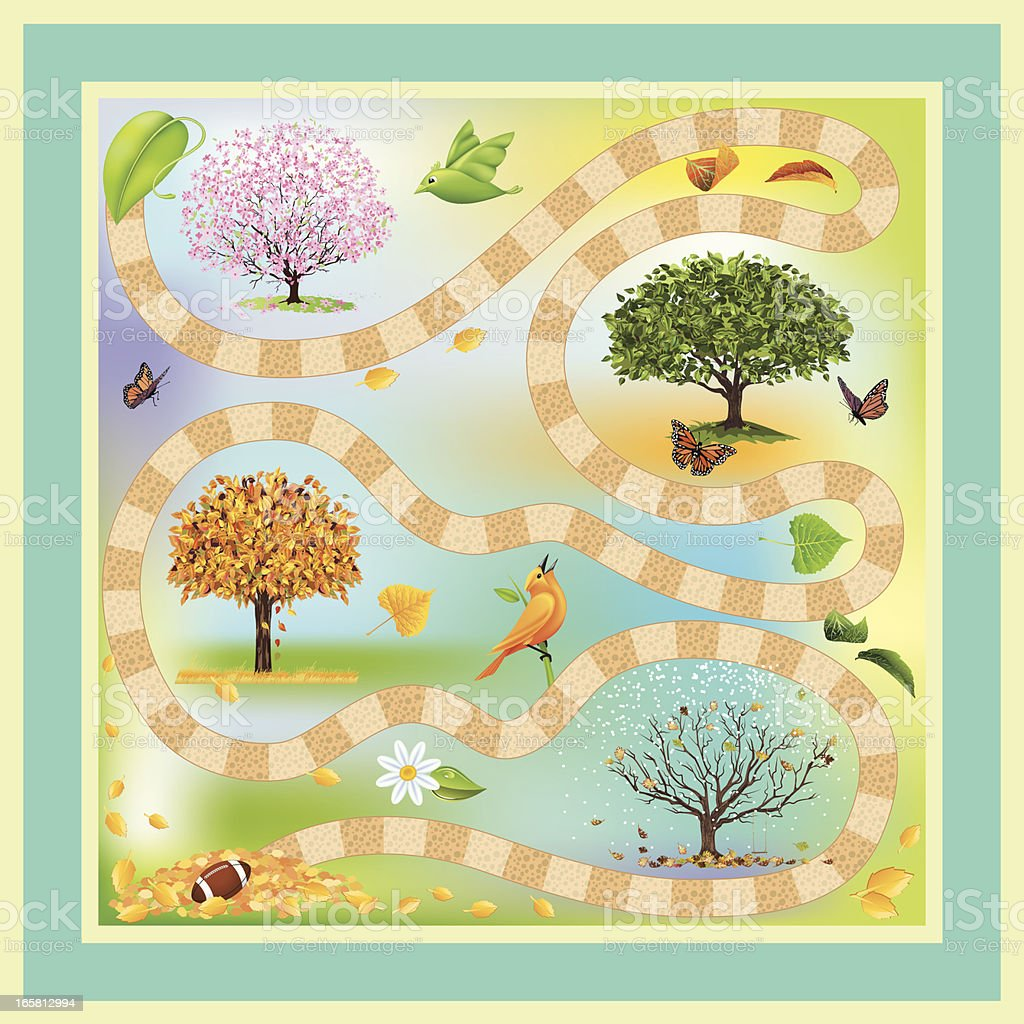 Four Seasons Game royalty-free stock vector art