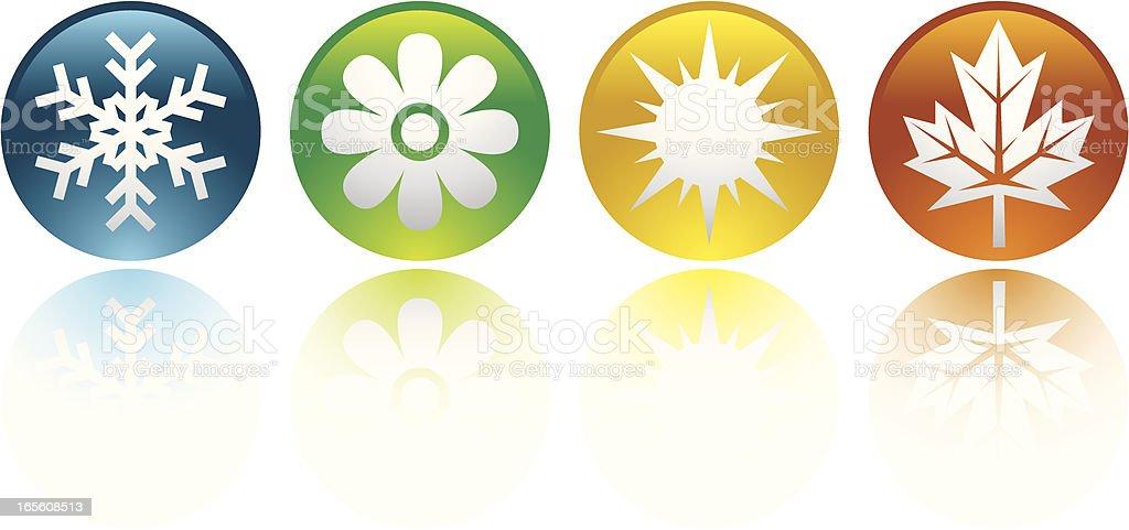 Four seasons icons royalty-free stock vector art