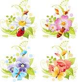 Four seasons: Summer banner set