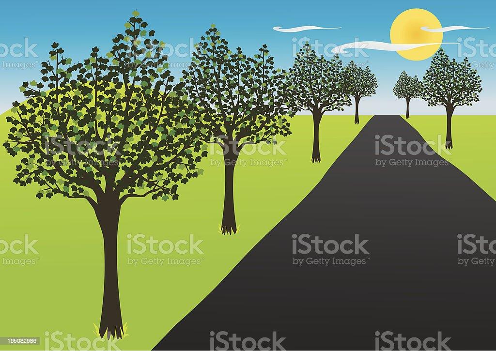 Four Seasons, Summer Road - incl. jpeg royalty-free stock vector art