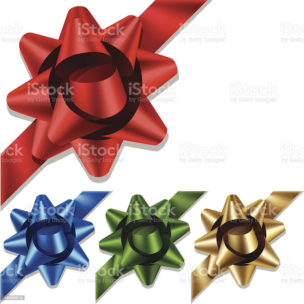 Four Small Decoration Bows royalty-free stock vector art