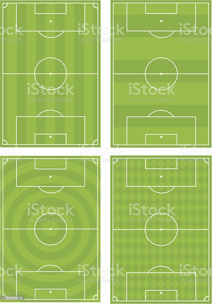 Four Soccer Football Pitches royalty-free stock vector art
