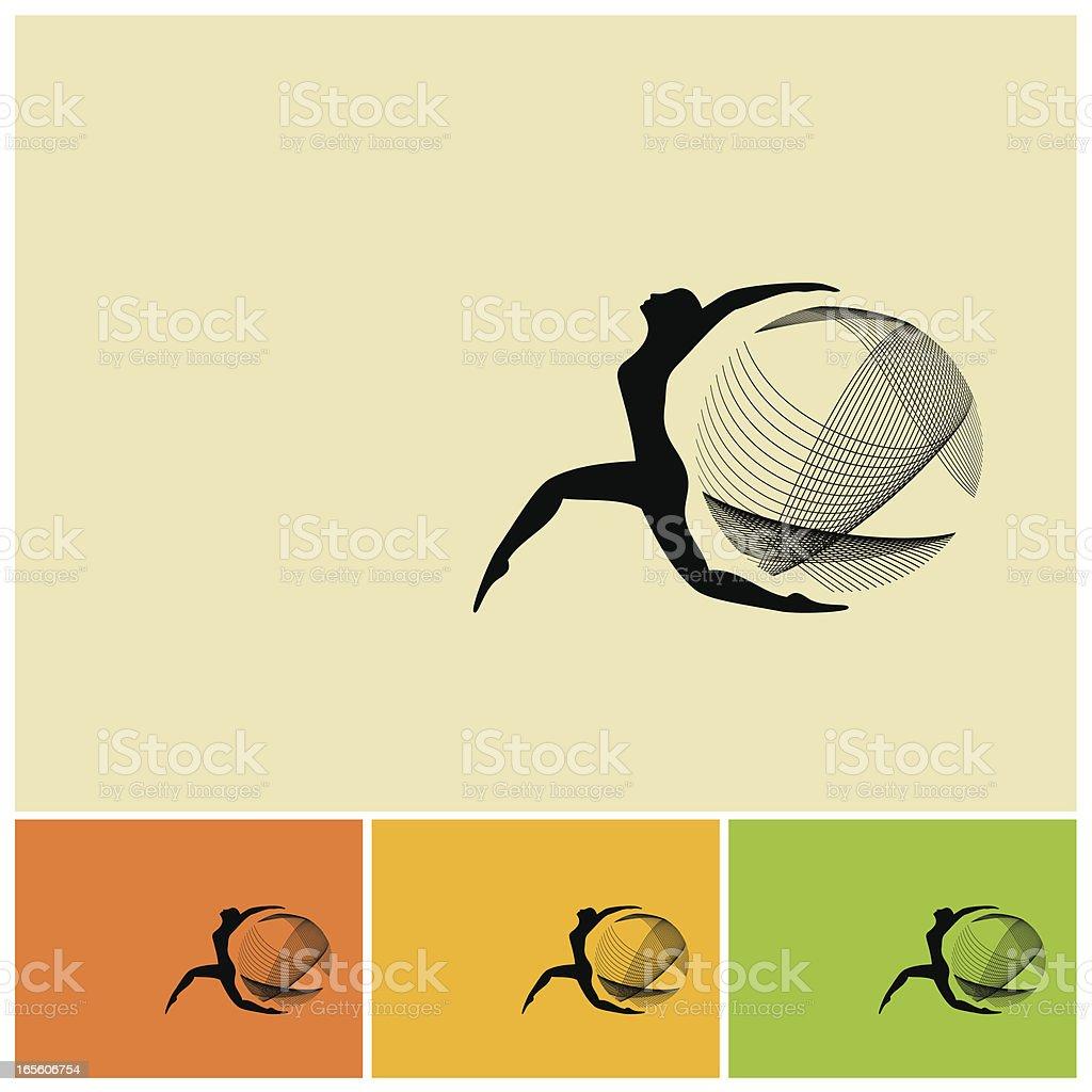 Four square technological world design vector art illustration
