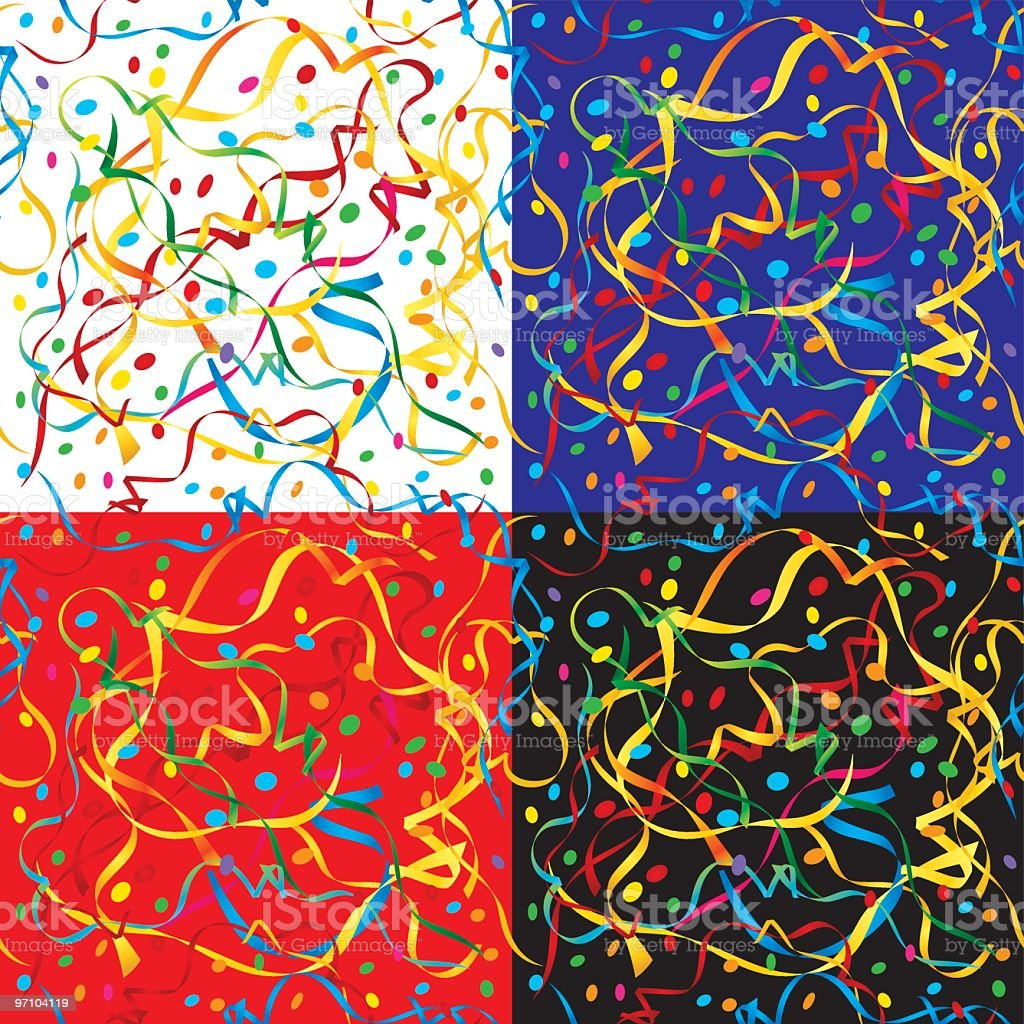 Four squares of colorful holiday pattern royalty-free stock vector art