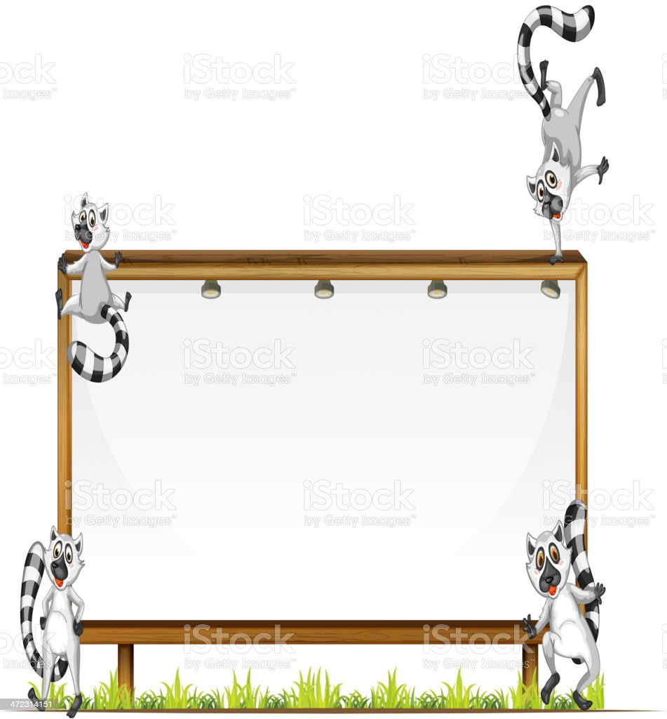 Four squirrels royalty-free stock vector art