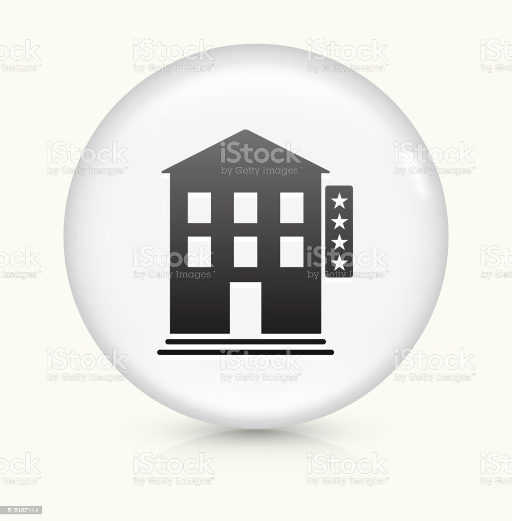 Four Star Hotel icon on white round vector button vector art illustration