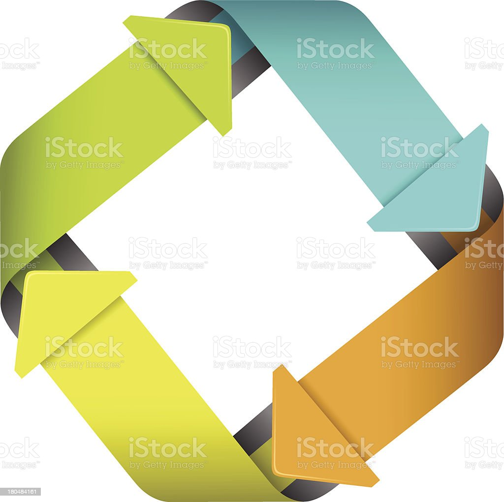 Four steps process arrows royalty-free stock vector art