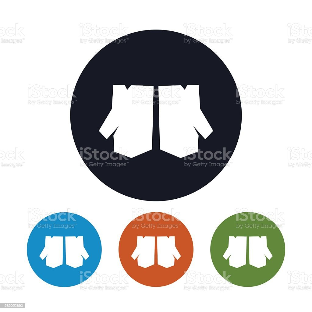 Types of leather work gloves - Equipment Leather Material Safe Sign Four Types Of Round Icons Work Gloves
