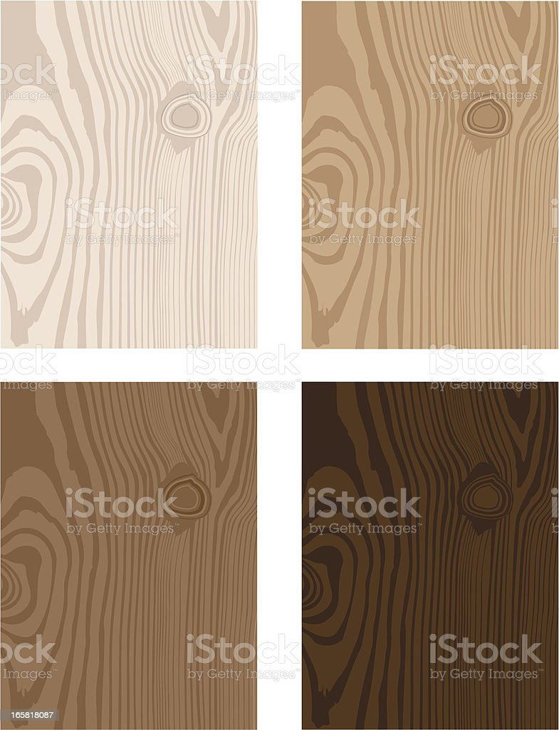 Four Wood Pattern Tones royalty-free stock vector art