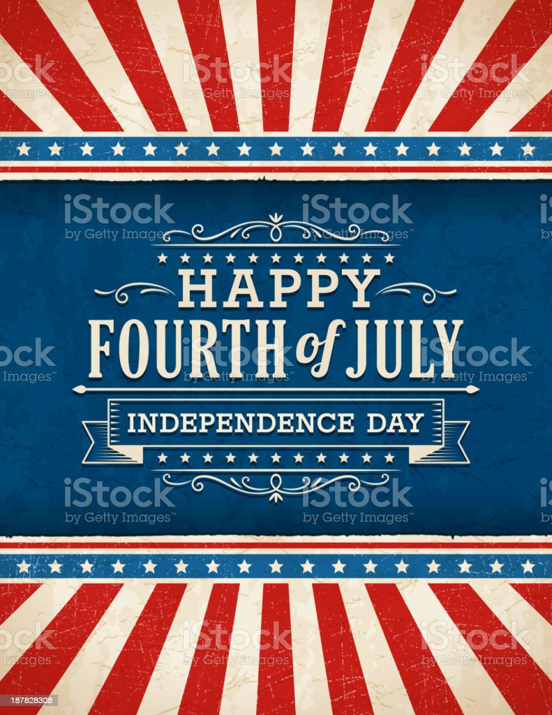Fourth of July Background vector art illustration