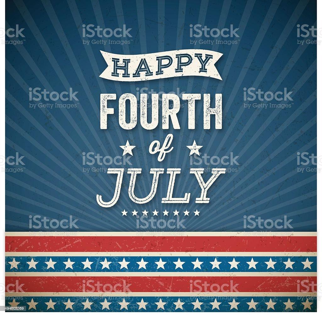 Fourth of July Background vector art illustration