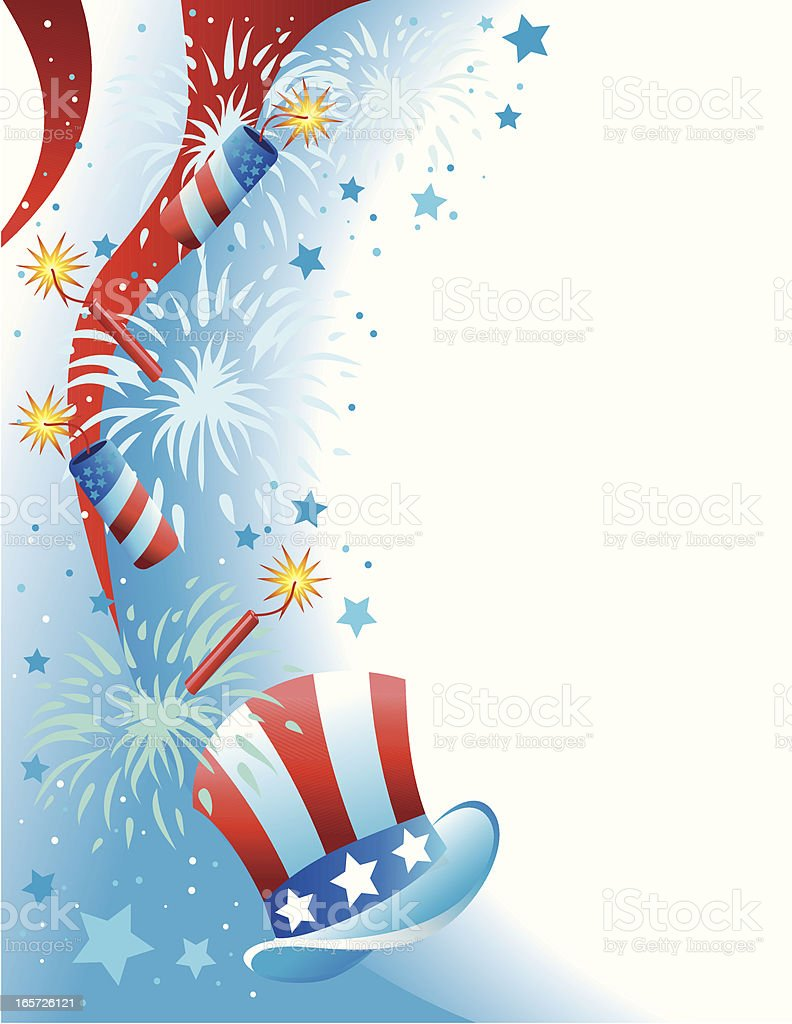 Fourth of July Celebration royalty-free stock vector art