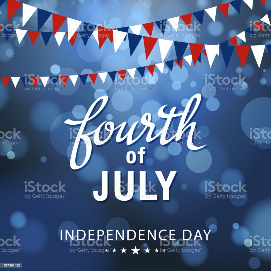 Fourth of July Celebration vector art illustration