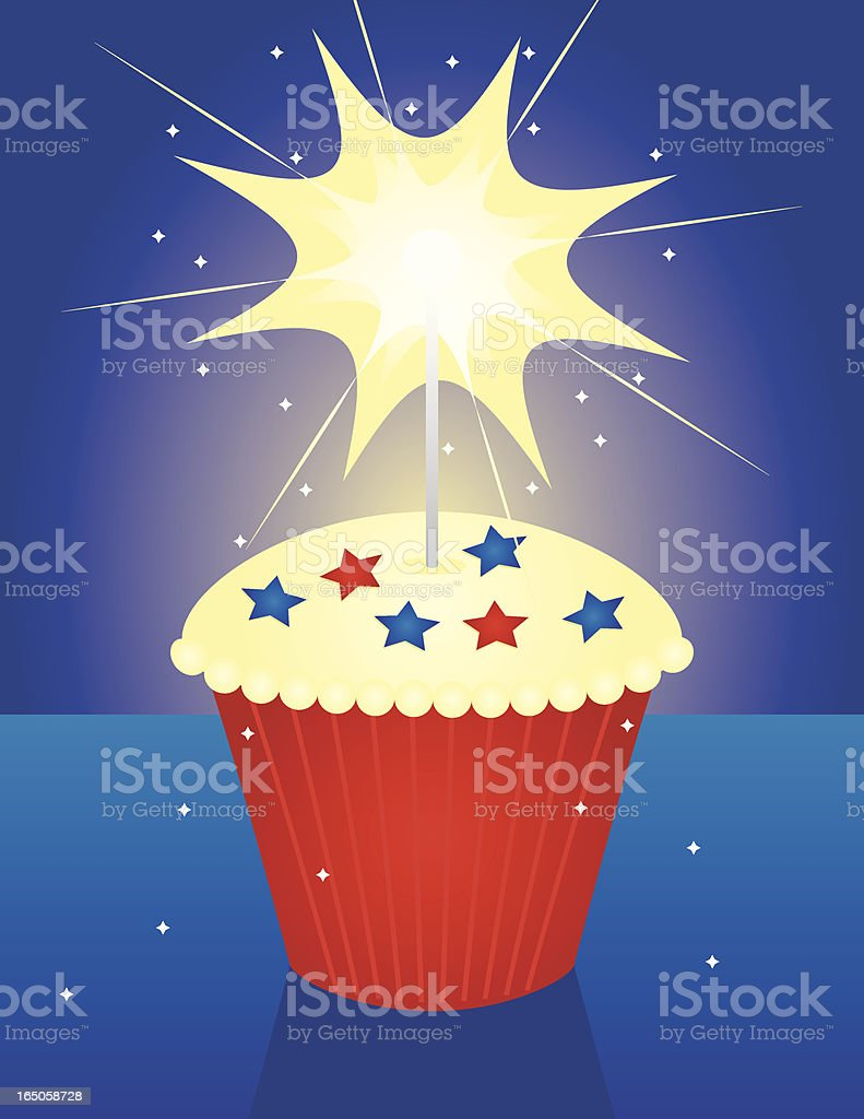 Fourth of July Cupcake royalty-free stock vector art