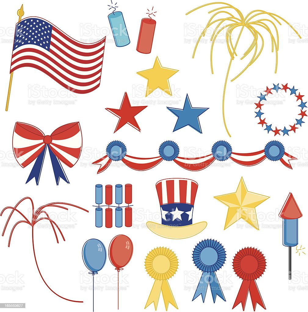 Fourth of July Essentials royalty-free stock vector art