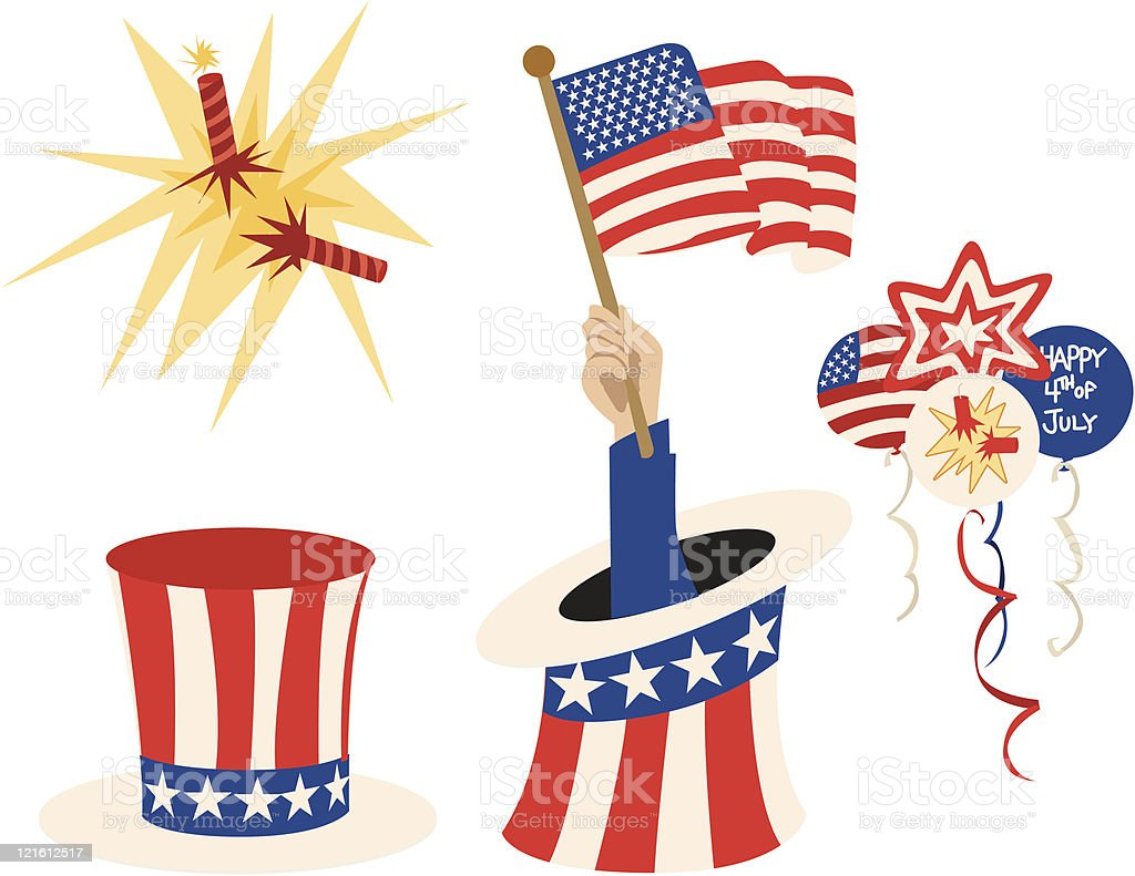 Fourth of July Fun royalty-free stock vector art