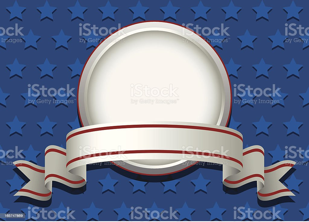 Fourth of July Patriotic Banner royalty-free stock vector art