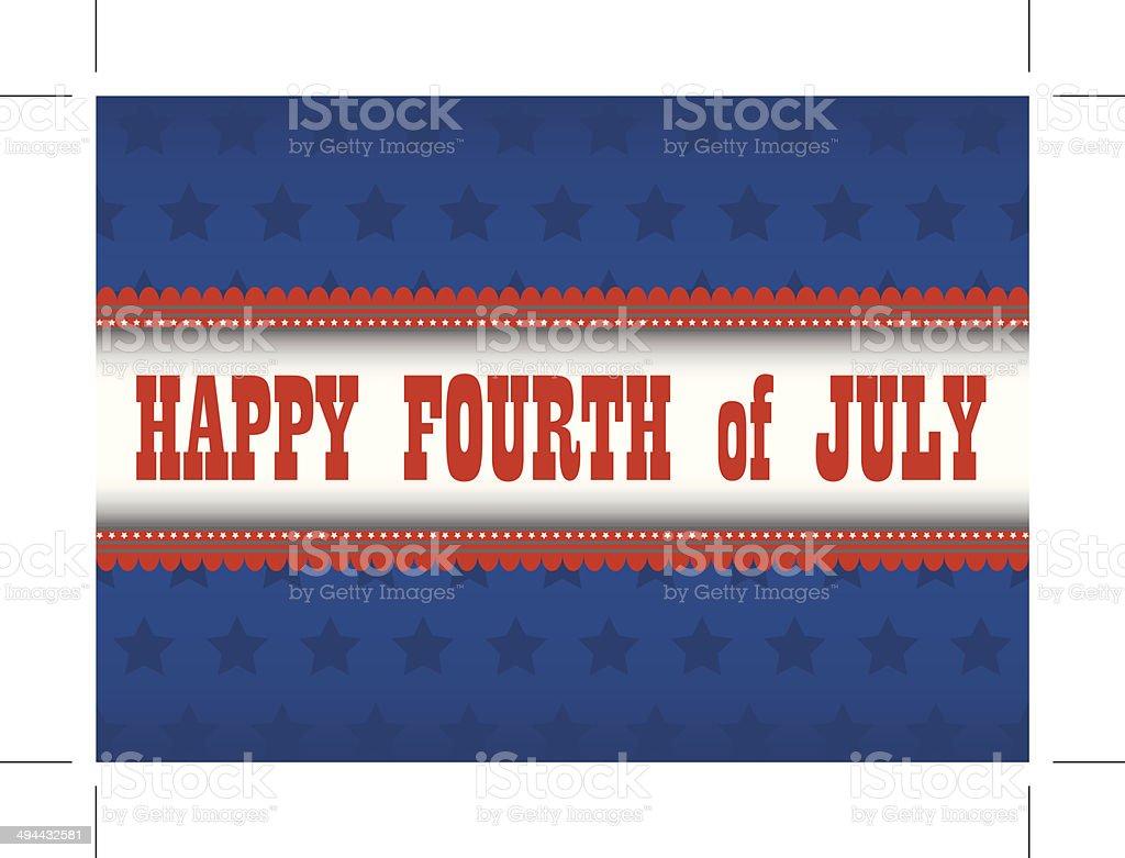 Fourth of July Patriotic Banner vector art illustration