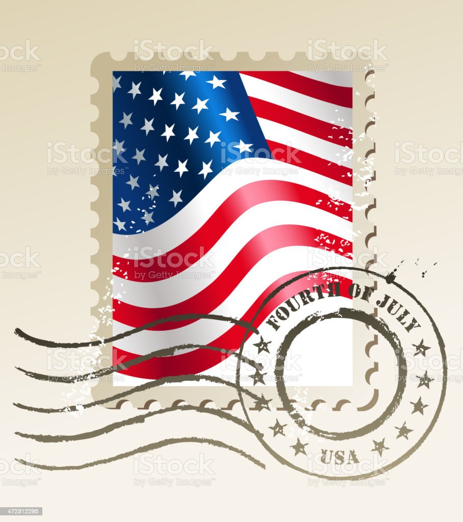 fourth of july stamp royalty-free stock vector art