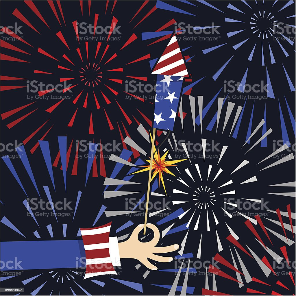 Fourth of July Uncle Sam royalty-free stock vector art