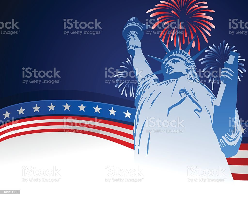 Fourth of July USA Background royalty-free stock vector art