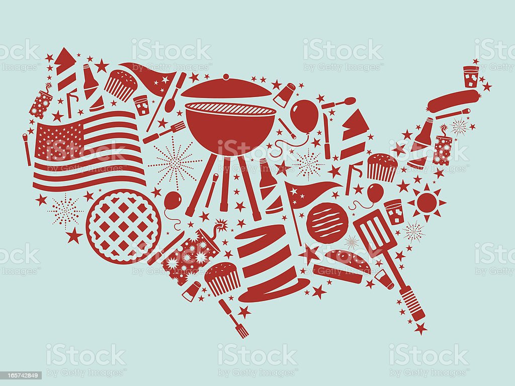 Fourth of July USA royalty-free stock vector art