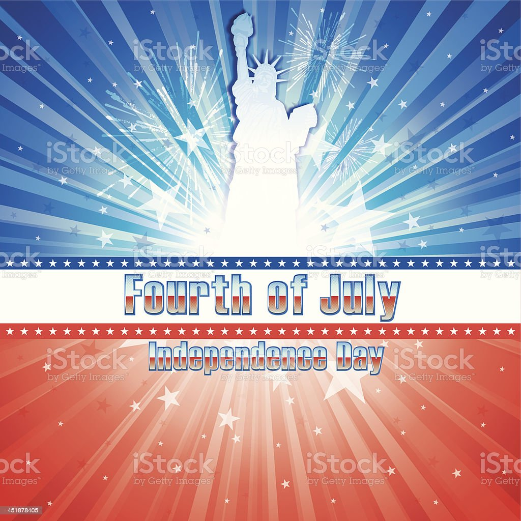 Fourth of July royalty-free stock vector art